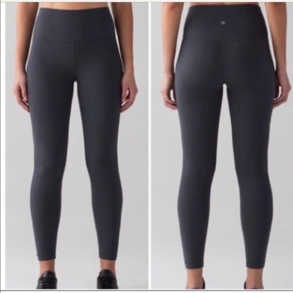 """lululemon athletica Pants - Lululemon Align II Leggings 25"""" Blue Tied 4"""